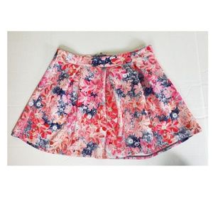 Bethany Mota for AEROPOSTALE Floral Skater Skirt L